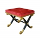 A253 Regency X Frame Stool Gilt and Ebony